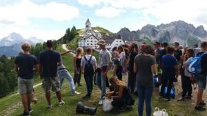 Sosta al Santuario Mariano di Monte Lussari 1800 Mt, Tarvisio