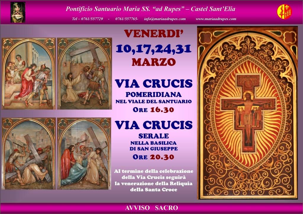 Manifesto - Via Crucis - Quaresima 2017 - Marzo