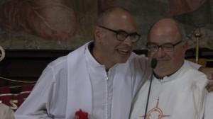 Fabrica di Roma, 10 Settembre 2017 Don Luigi con il suo successore Don Paolo